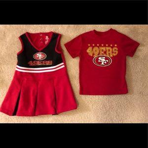 🏈 Boy + Girl Twin Toddler San Francisco 49ers B/G